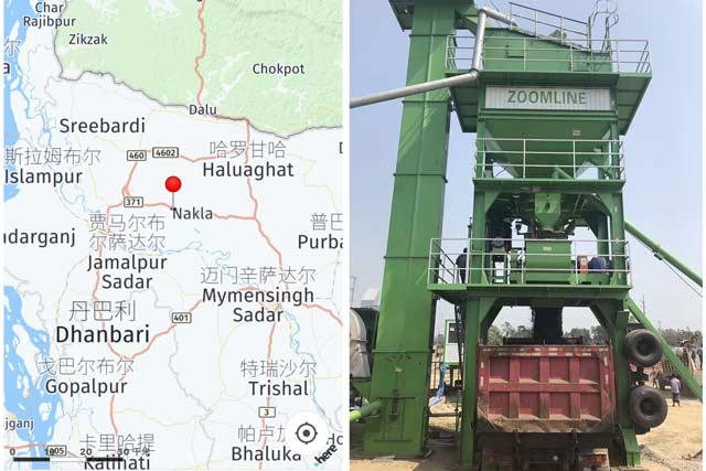 80ТН/Ч Мобильный асфальтный завод в Бангладеш
