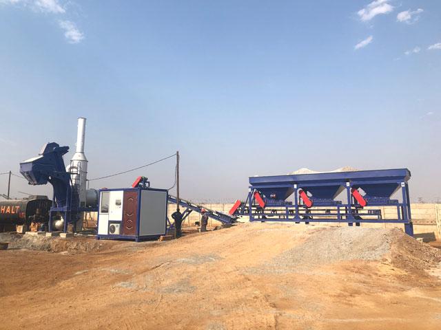 Запускались барабанный асфальтный завод в Зимбабве