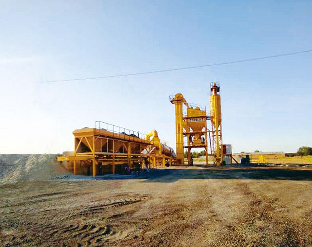ZAP-M120 Мобильный Асфальтный Завод в Узбекистане