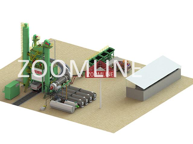 Пример проекта стационарного асфальтобетонного завода ZAP-S80 в УЗ (Узбекистан)