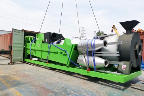 Cтационарная барабанная асфальтосмесительная установка ZAP-C40 отправили в Украину