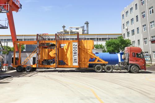 Мобильный асфальтный завод 120тн/ч,модель ZAP-M120,отправили в Узбекистан