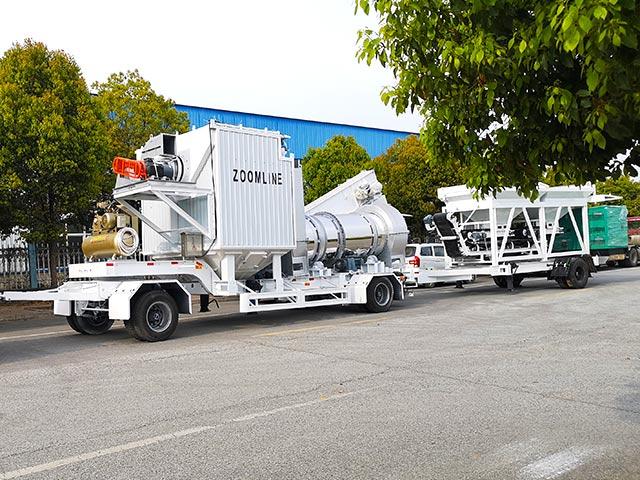 Ультрамобильный асфальтный завод ZOOMLINE успешно отправили в Грецию