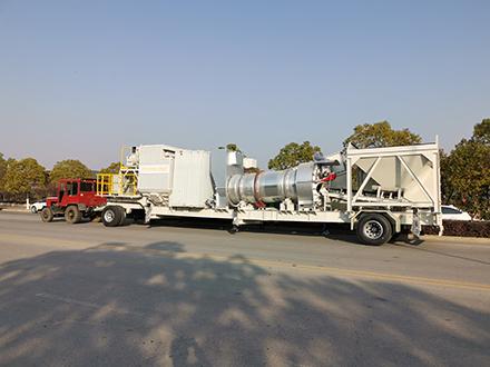 Мобильный барабанный асфальтный завод нового типа серии ZAP-CM